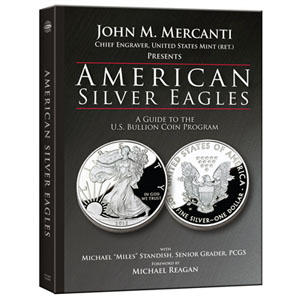 John M. Mercanti, Michael 'Miles' Standish, American Silver Eagles: A Guide to the U.S. Bullion Coin Program, Whitman Publishing, Atlanta (GE), 2012. Hardcover, 168 pages, 8.5 x 11 inches, fully illustrated in color. ISBN 0794838049. $29.95