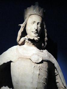 Rudolf IV. von Österreich. Um 1360/1365. Statue vom Südpfeiler des Stephansdoms. Foto: KW.