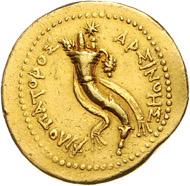 Los 113: Ägypten, Ptolemaios V., AV Oktodrachme (204-180 v.Chr.). Schätzpreis: 7.500 Euro; Zuschlag 20.000 Euro.