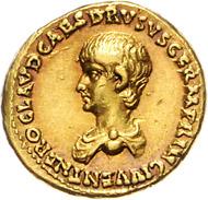 Los 245: Römisches Reich, Claudius, AV Aureus (50-54). Schätzpreis: 9.500 Euro; Zuschlag 24.000 Euro.