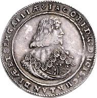 Los 894: Kurland, Jakob Kettler, Reichstaler 1644. Schätzpreis: 12.000 Euro; Zuschlag 21.000 Euro.