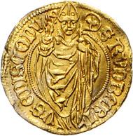Los 1378: Salzburg, Sigismund I. von Volkersdorf (1452-1461), Goldgulden o.J. (1452-1461). Schätzpreis: 12.500 Euro; Zuschlag 55.400 Euro.