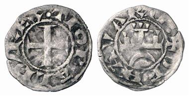 Thibaut II., 1253-1270. Denier. Aus Auktion Künker 152 (2009), 5191.
