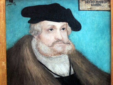 Frederick the Wise, Elector of Saxony, painted by Lucas Cranach the Older 1536. Photo: KW.