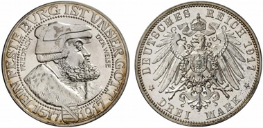 Saxony. Frederick August III, 1904-1918. J. 141. From Künker auction 213 (2012), 6077.