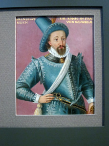Portrait of Emperor Henry IV of France from a series of important rulers, painted before 1593. Photo: KW.