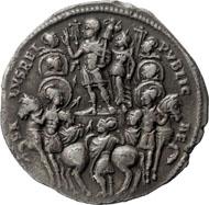 Konstantin d. Große, Medaillon, Silber, 315, Ticinum (oder Rom), 6,40 g. © Nicolai Kästner.