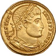 Konstantin d. Große, Solidus, Gold, 322/3, Sirmium, 4,61 g. © Nicolai Kästner.