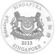 Singapore / S$80 / 1kg 999 silver / 100 mm / Mintage: 1,000.