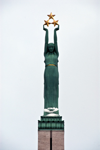 Closeup of the Freedom Monument. Photo: Arwcheek / Wikipedia.