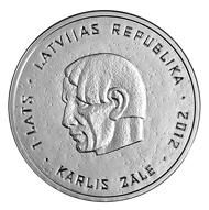 Latvia / 1 lats / 925 silver / 35 mm / 22 g / Kriss Salmanis (graphic design), Ligita Franckevica (plaster model) / Mintage: 7,000.