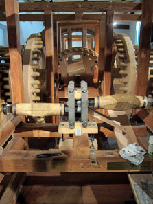 Reconstruction of a roller coining machine, today to be found in Hall / Tyrol. Photo: KW.