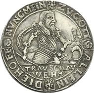 Am 31. Januar 2013 wird vom Auktionshaus Künker / Osnabrück dieser unike Taler aus Barby mit einer Schätzung von 50.000 Euro versteigert. Er zeugt vom Leben und Sterben eines einfachen Reichsgrafen der frühen Neuzeit.