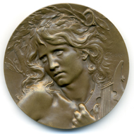 Coudray, Orphée, 1899. Bronze.
