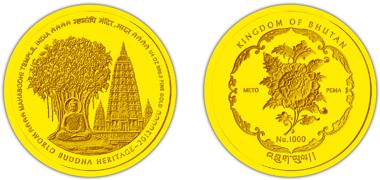 Bhutan / 1,000 BTN / 1/4oz 999 gold / 21.96 mm / Mintage: 6,000.
