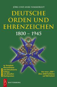 Jörg und Anke Nimmergut, Deutsche Orden & Ehrenzeichen 1800-1945. Gietl Verlag, Regenstauf, 2012/2013. 19. Auflage. 960 Seiten, 12,5 x 19 cm, Paperback. ISBN: 978-3-86646-092-8. 39,90 Euro.
