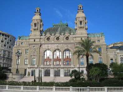 View at the famous gambling casino of Monte Carlo. Photo: KW.