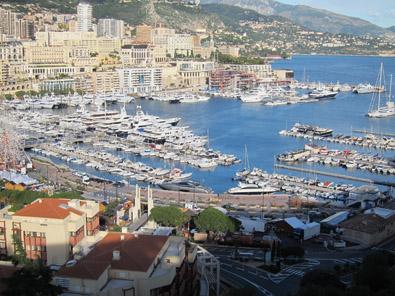 View at the marina of Monaco. Photo: KW.