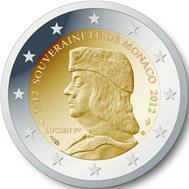 2 euro commemorative coin on 500th anniversary of foundation of Monaco's sovereignty. Photo: ECB / Wikipedia.