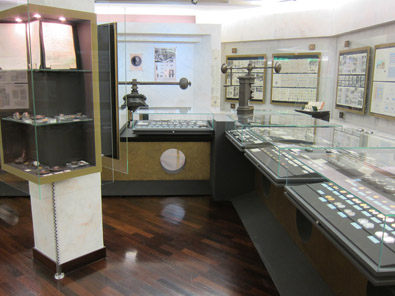 View at the showcase with the Monégasque coins. Photo: KW.