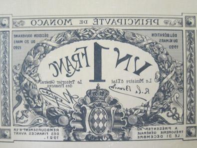 Monégasque paper money. Photo: KW.