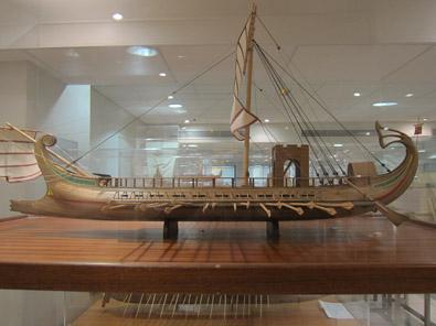Model of a Roman war ship. Photo: KW.
