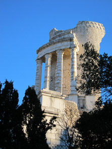 Victory monument of the Alps at La Turbie. Photo: KW