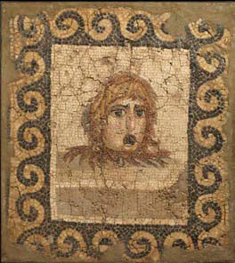 Roman mosaic with the theatre mask, c.2nd century AD Dimensions: 39.5 x 35.25 inches. Price: $150,000.