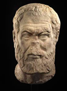 Roman marble head of Hypereides, c.2nd century AD. Height: 13 inches. Price: $280,000.