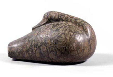 Mesopotomian stone duck weight, 2nd millenium BC.Length: 8.75 inches. Price: $75,000.