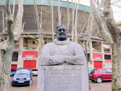 The hero of Pamplona: Ernest Hemingway. Photo: KW.