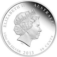 Australia / 0.50 AUD / 1/2oz 999 silver / 15.591 g / 36.60 mm / Design: Natasha Muhl / Mintage: 10,000.