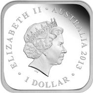 Australia / 1 AUD / 1oz 999 silver / 31.135 g / 33.20 x 33.20 mm / Mintage: 5,000.