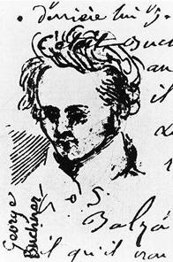 Alexis Muston aus Straßburg fertigte diese Skizze seines Freundes Georg Büchner etwa 1835. Quelle: Wikipedia.