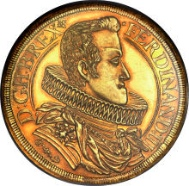 20047: Ferdinand III (1627-1657) gold 12 Ducats 1629-HG. Estimate: $75,000. Realized: $129,250.