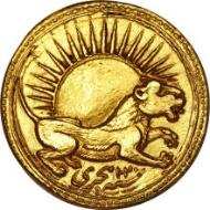 22005: Mughal, Jahangir, AH 1015-1037 / AD 1605-1628, gold portrait mohur (10.88g, 21.5mm). Estimate: $60,000-80,000. Realized: 82,250.