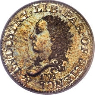 5570: 1792 H10C Judd-7, Pollock-7, R.4 as a Business Strike SP67 PCGS. Realized: $1.41 million.