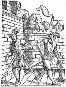Executioner in the course of preparation. Praxis rerum criminalium iconibus illustrata, Antwerp 1562. Source: Wikipedia.