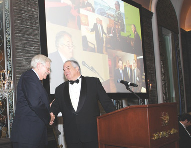 ANS President Syd Martin (left) and Gala Honoree, Roger Siboni, recipient of the Trustees' Award. Photo: Alan Roche. Courtesy American Numismatic Society