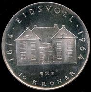 10-kroner coin 1964. Photo: www.skanfil.no.
