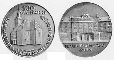 Medal on the anniversary of the pilgrimage in 1979.