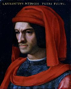 Porträt Lorenzo il Magnifico de' Medici. © Su Concessione del Ministero per i Beni e le Attività Culturali.