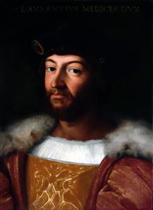 Porträt Lorenzo Herzog von Urbino. © Su Concessione del Ministero per i Beni e le Attività Culturali.
