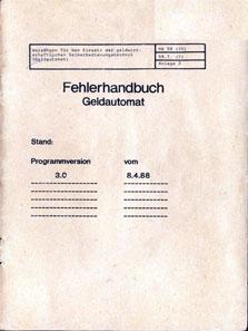 Titelblatt des Fehlerhandbuchs. Foto: J. Peeck.
