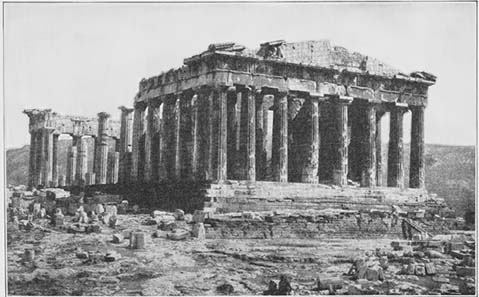 The Athenian Parthenon was not only the place, where the treasure of the Attic-Delian league was kept. The building was also paid with money owned by the league. Photo of the 19th century.