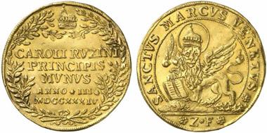 Venedig. Goldene Osella 1734. Aus Auktion Künker 221 (2012), geschätzt: 2.000 Euro, zugeschlagen: 3.000 Euro.