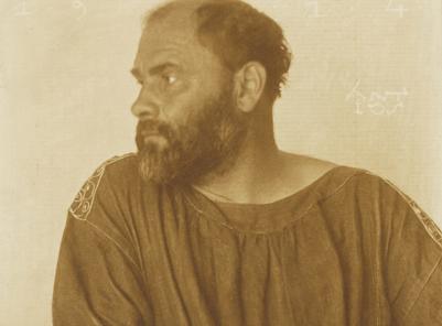 Photo portrait of Gustav Klimt by Josef Anton Trcka, 1914.