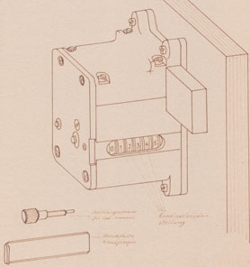 Skizze des Kombinationsschlosses CS 1. Foto: J. Peeck.