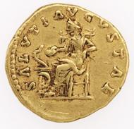 Rome. Faustina II under M. Aurelius (161-176 AD). Aureus. © Swiss National Museum Inv. ZB-R2164.