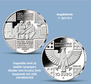 Die neue Sondermünze. © Bundesministerium der Finanzen.